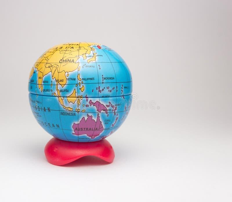 Mini globe of planet earth royalty free stock image