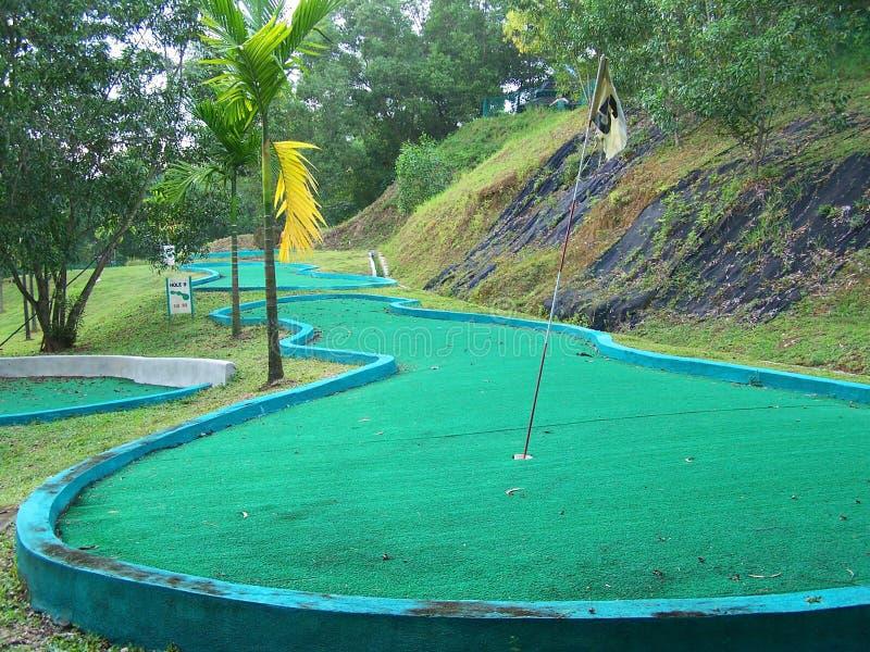 mini golf kursu obraz stock