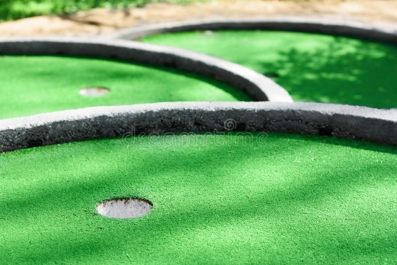 Mini golfe fotografia de stock royalty free