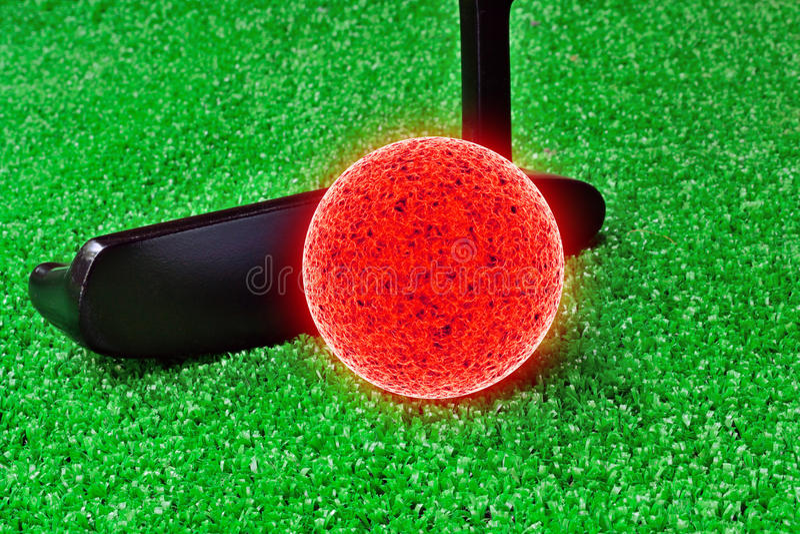 Mini golfe imagens de stock