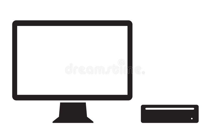 Mini graphisme d'ordinateur illustration stock