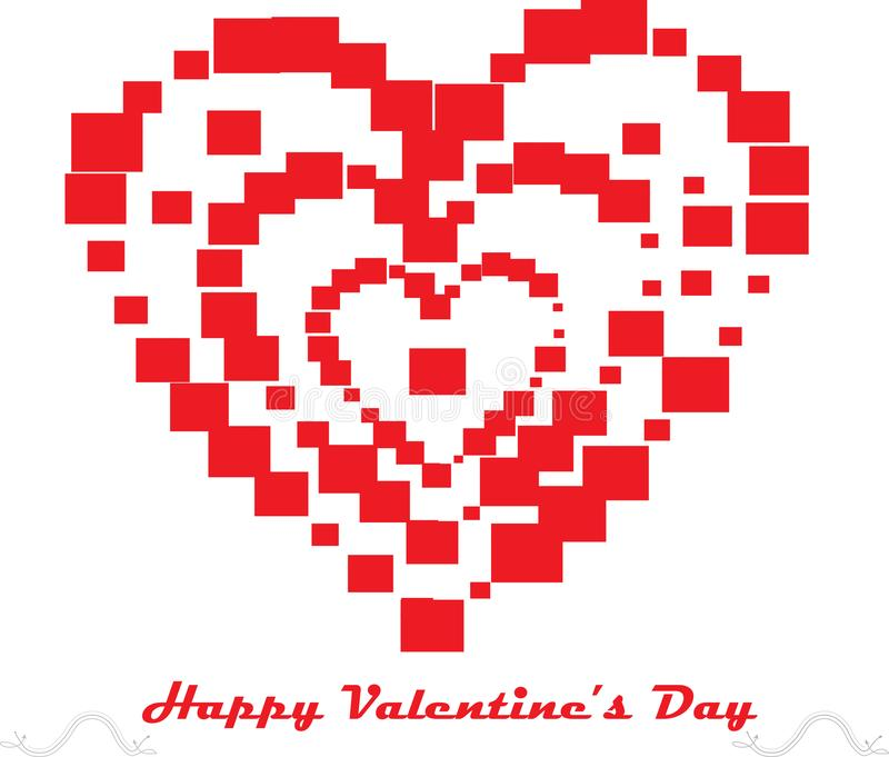 Mini gruppo del cuore di vettore a grande cuore fotografie stock libere da diritti