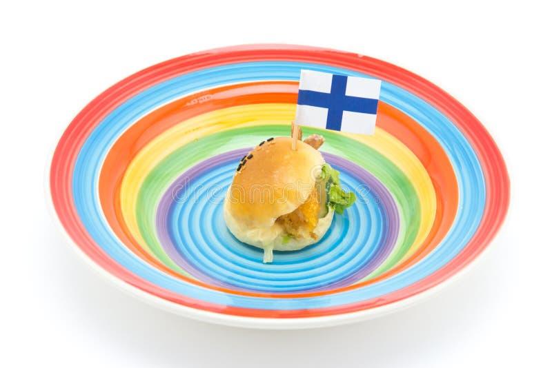 Mini Hamburger foto de stock