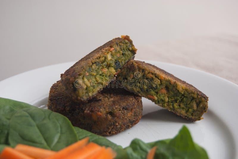 Mini hamburgers de Vegan photos stock