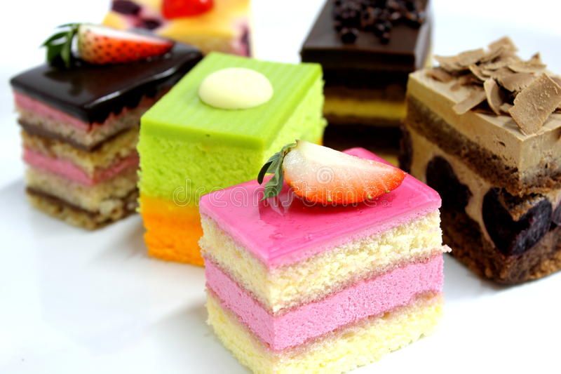 Mini heerlijke cake royalty-vrije stock fotografie