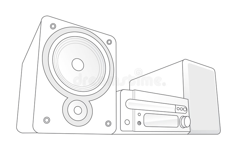 Mini Hifi vectorillustratie vector illustratie