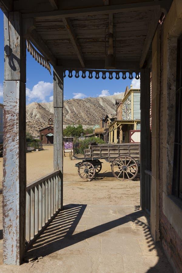 Mini Hollywood Film set. Desert of Tabernas, Almeria Province, Andalusia, Spain royalty free stock photos