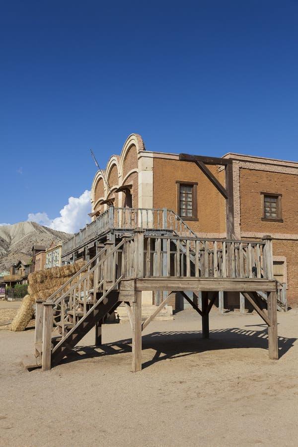 Mini Hollywood Film set. Desert of Tabernas, Almeria Province, Andalusia, Spain royalty free stock image