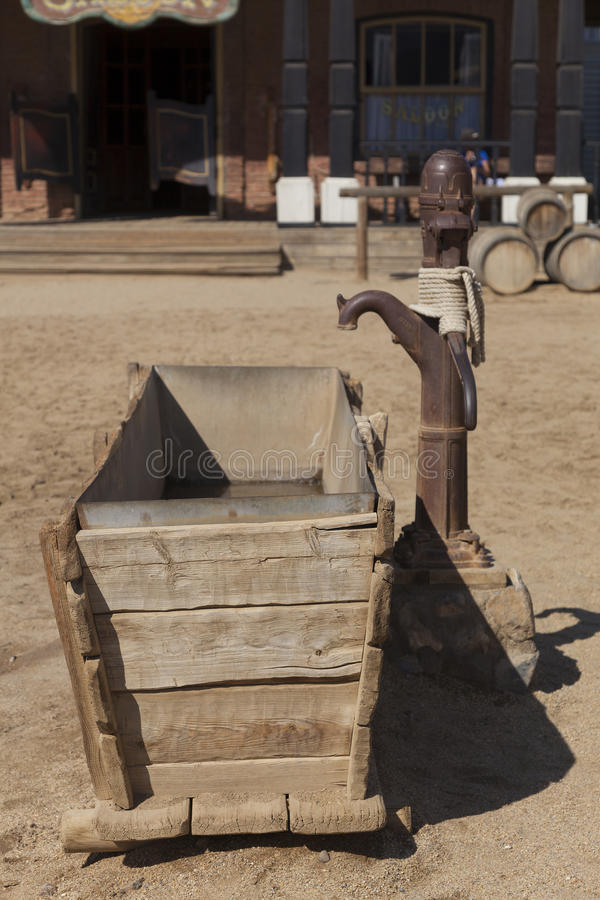 Mini Hollywood Film set, Desert of Tabernas. Almeria Province, Andalusia, Spain stock photo