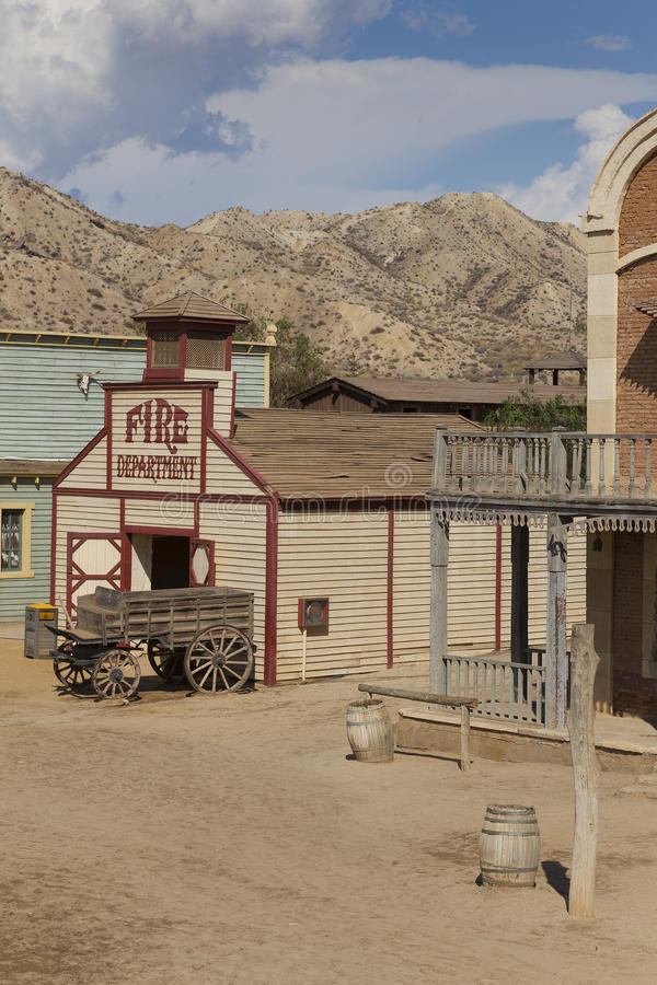 Mini Hollywood Film set. Desert of Tabernas, Almeria Province, Andalusia, Spain royalty free stock images