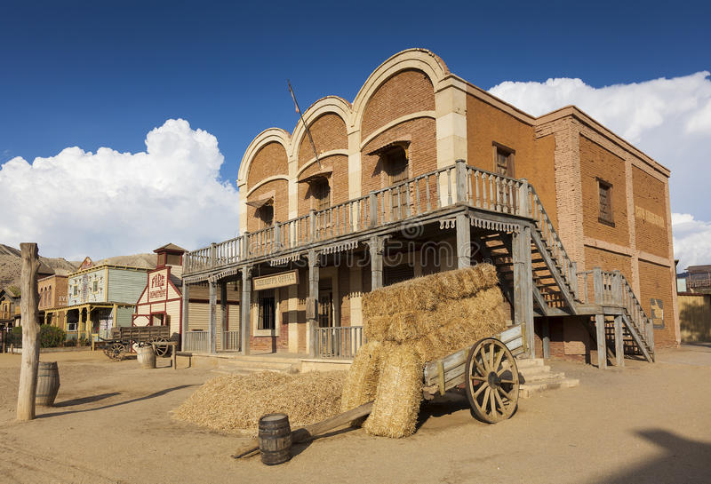 Mini Hollywood Film set. Desert of Tabernas, Almeria Province, Andalusia, Spain stock photos