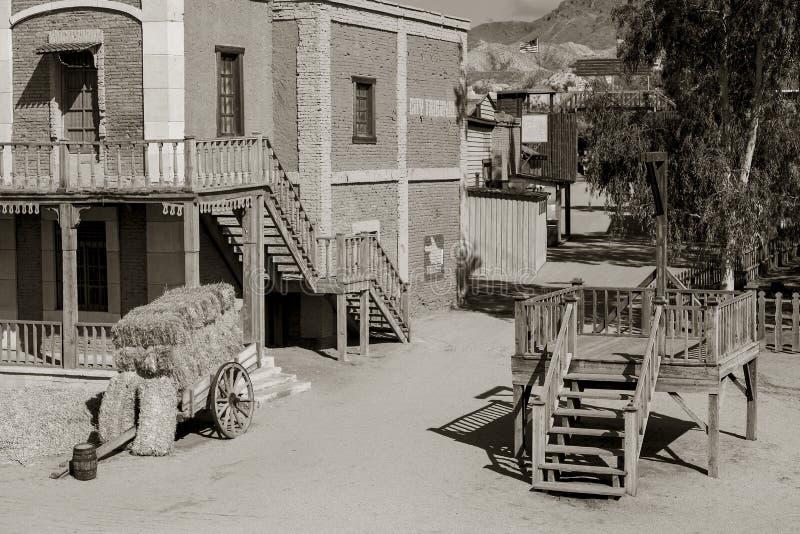 Mini Hollywood Film set. Desert of Tabernas, Almeria Province, Andalusia, Spain stock photo