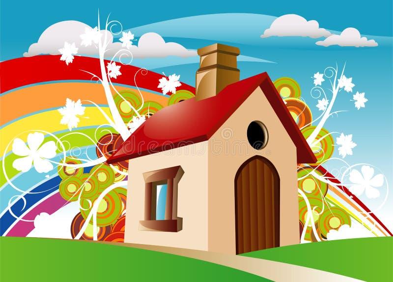 Mini Huis stock foto