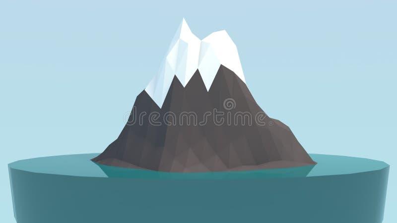 Mini iceberg in basso poli illustrazione di stock