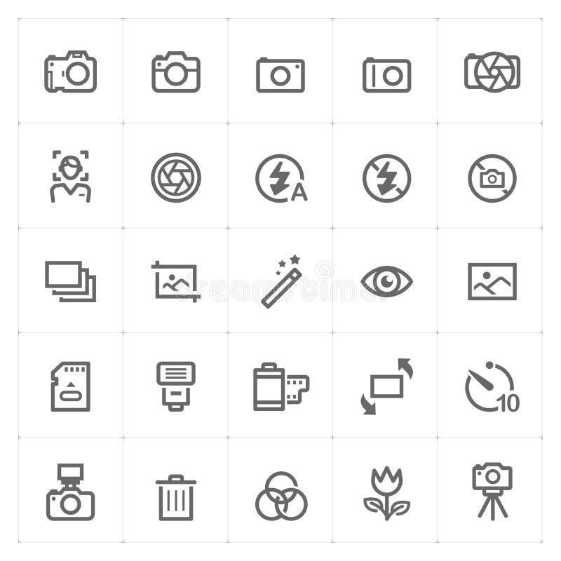 Mini Icon fijó - el icono de la cámara ilustración del vector