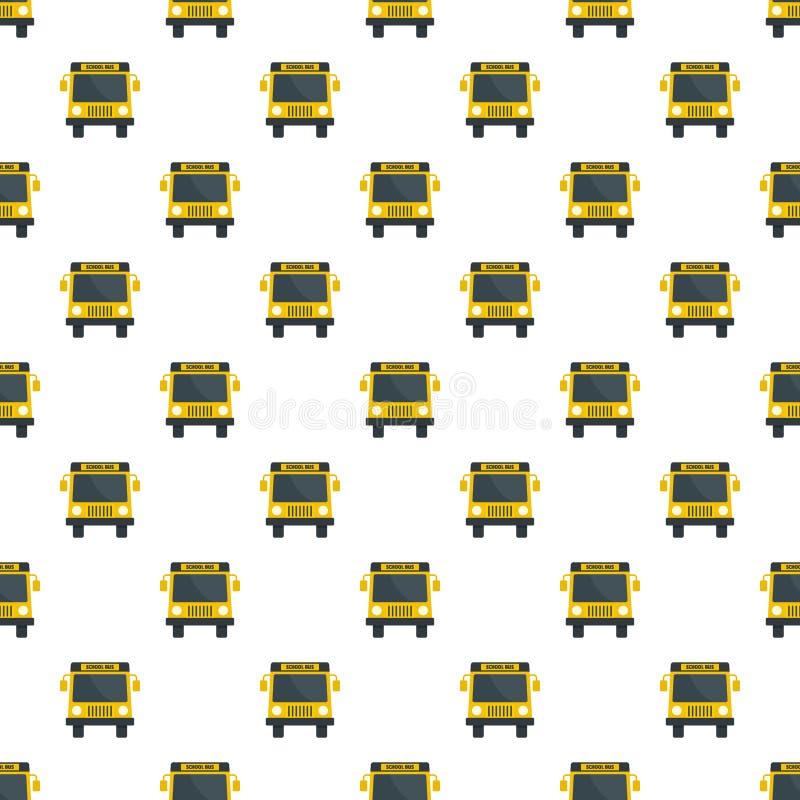 Mini icona del bus della scuola gialla, stile piano illustrazione di stock