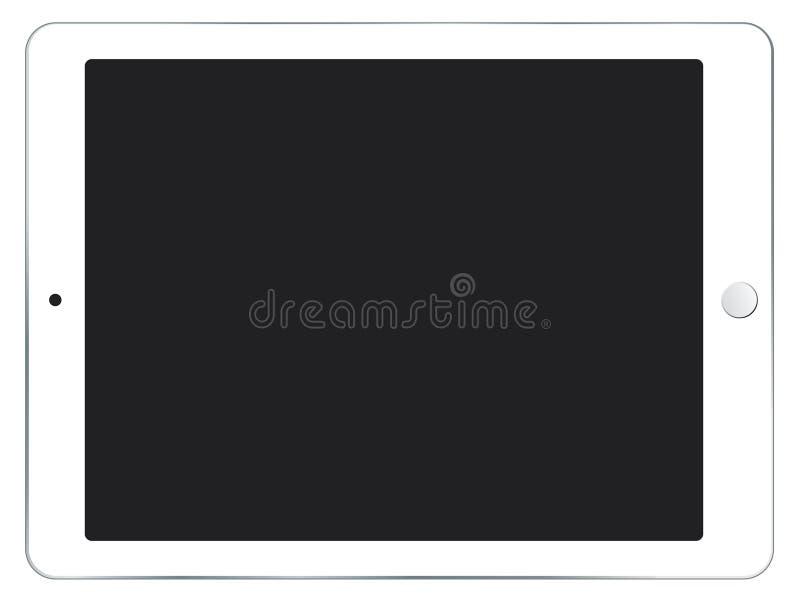 Mini illustration blanche de vecteur d'IPad illustration stock