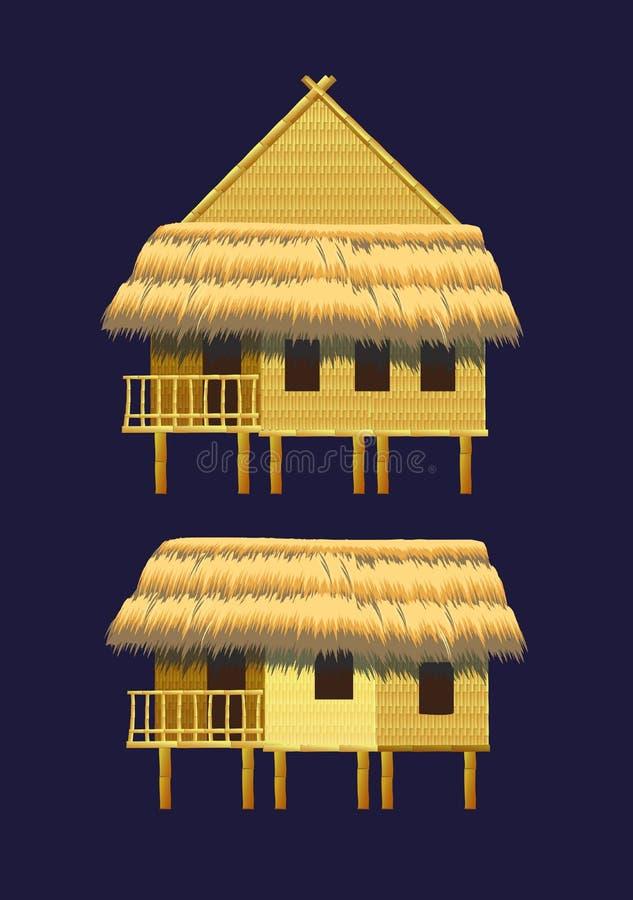 Mini insieme dei bungalow royalty illustrazione gratis