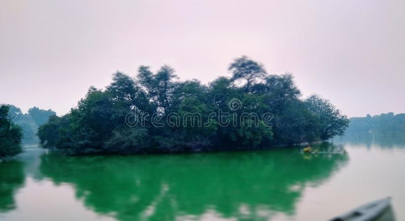 Mini Island royaltyfri foto