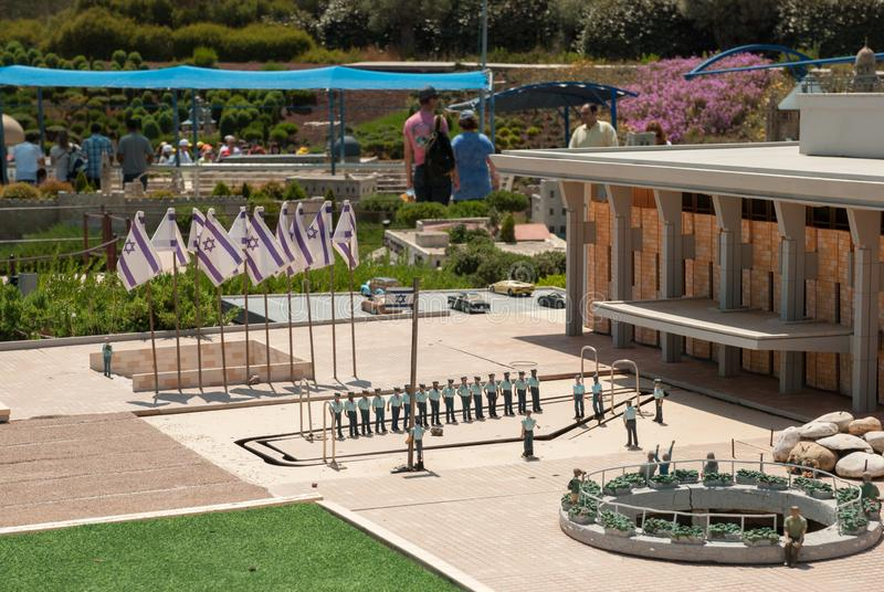Miniature of The Knesset square (Knesset is parliament of Israel), at Mini Israel - a miniature park located near Latrun. MINI ISRAEL MINIATURE PARK, LATRUN royalty free stock photography