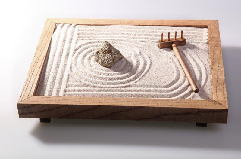 Mini jardim do zen fotos de stock royalty free