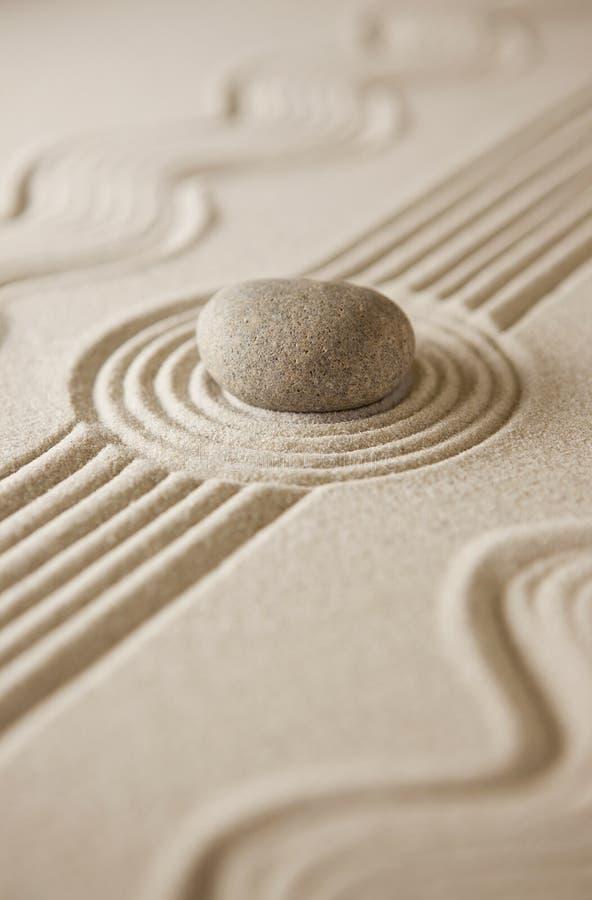 Mini jardin de zen photographie stock