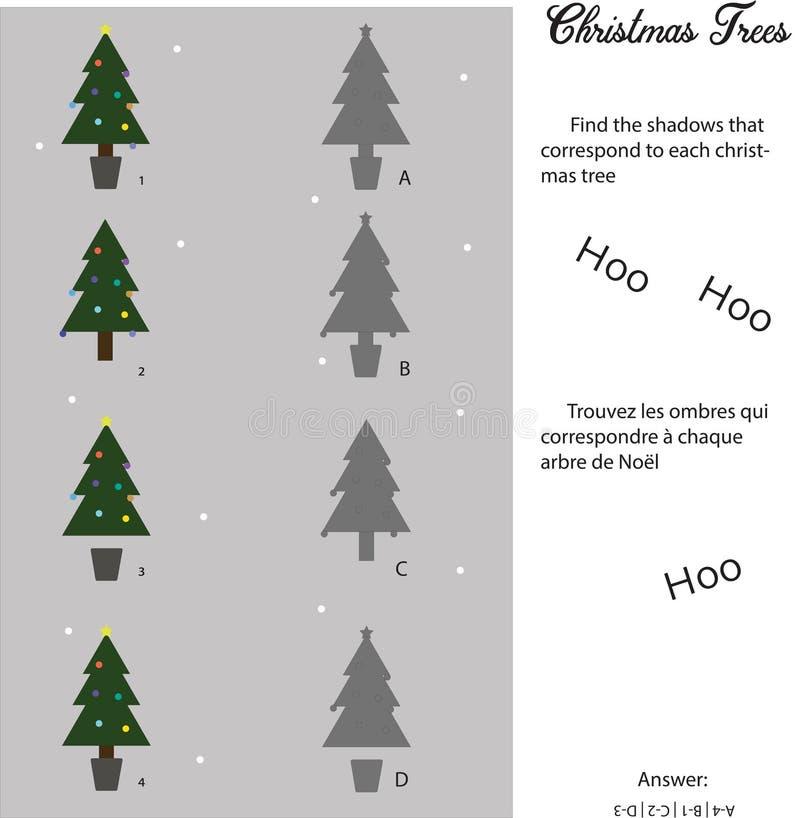 Mini jeu de Noël pour des enfants illustration stock