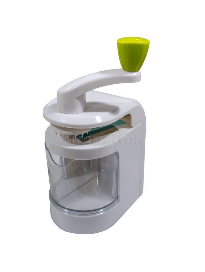 Mini- kökhjälpmedel för grönsak- och frukthandbokförskärare arkivfoto