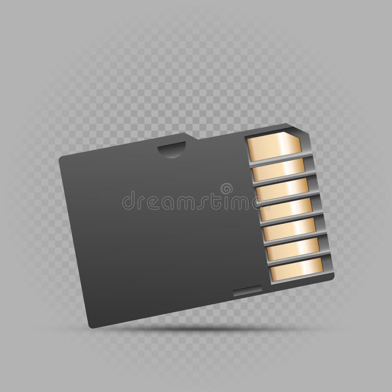 Mini karta pamięci na szarym tle royalty ilustracja