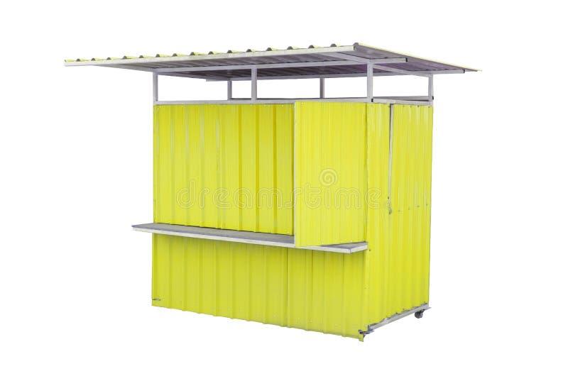 Mini kiosque sur le blanc avec le chemin photographie stock libre de droits