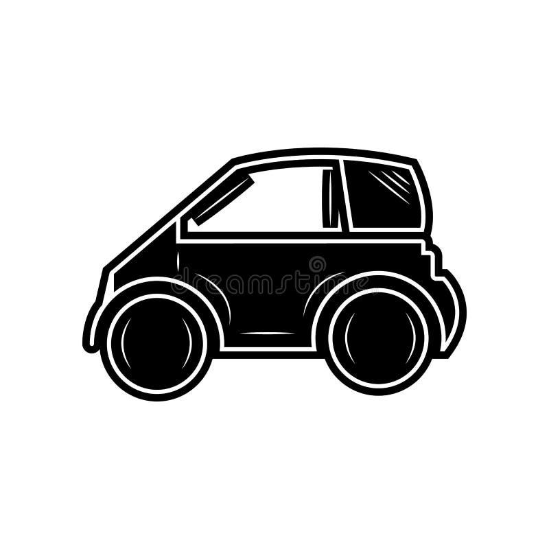 Mini kleine st?dtische Stadtfahrzeugikone Element von Autos f?r bewegliches Konzept und Netz Appsikone Glyph, flache Ikone f?r We stock abbildung