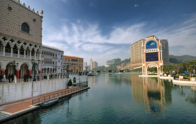 Mini-Lago veneciano del hotel, Macau fotografía de archivo