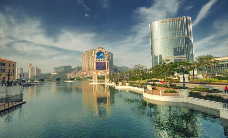 Mini-Lago veneciano del hotel, Macau imagenes de archivo