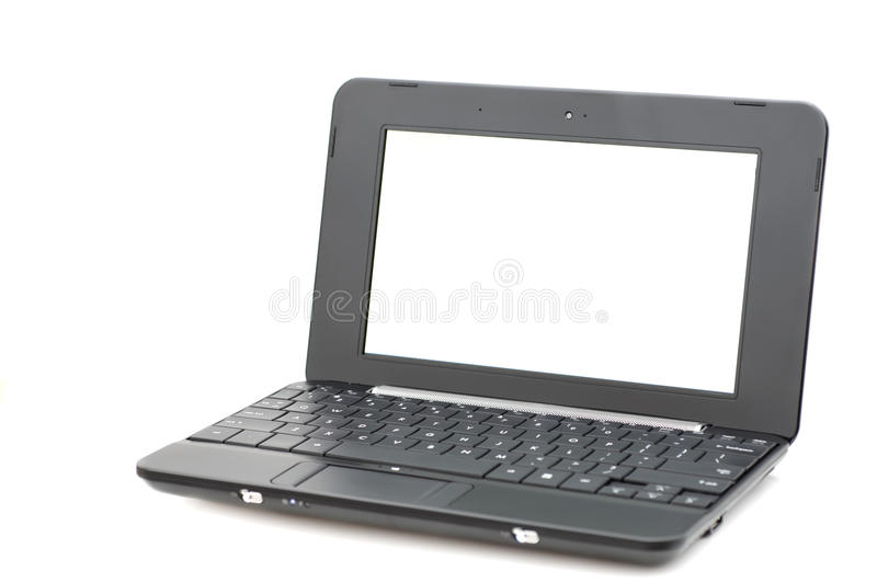 Mini laptop computer stock photos