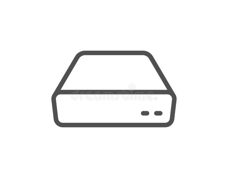 Mini ligne icône de PC Signe de dispositif de petit ordinateur Vecteur illustration stock