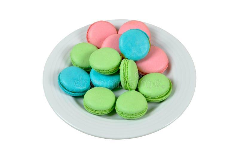Mini macoroons coloridos imagem de stock