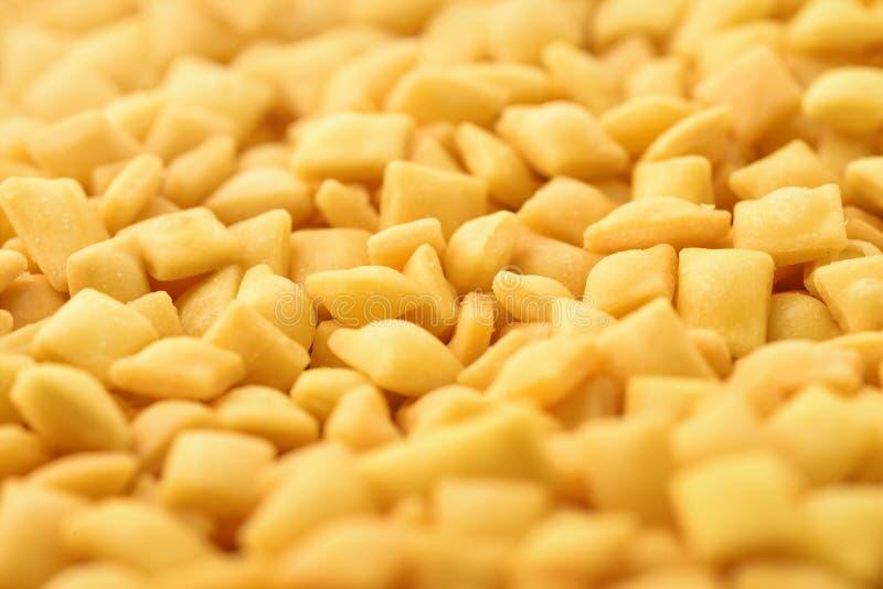 Mini-mandels Croutons stockbilder