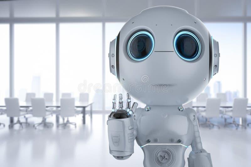 Mini mano del robot para arriba imagenes de archivo