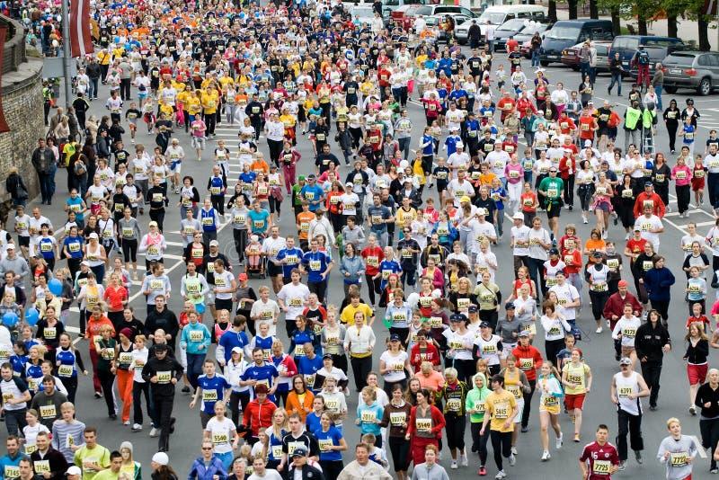Mini Marathon runners royalty free stock images