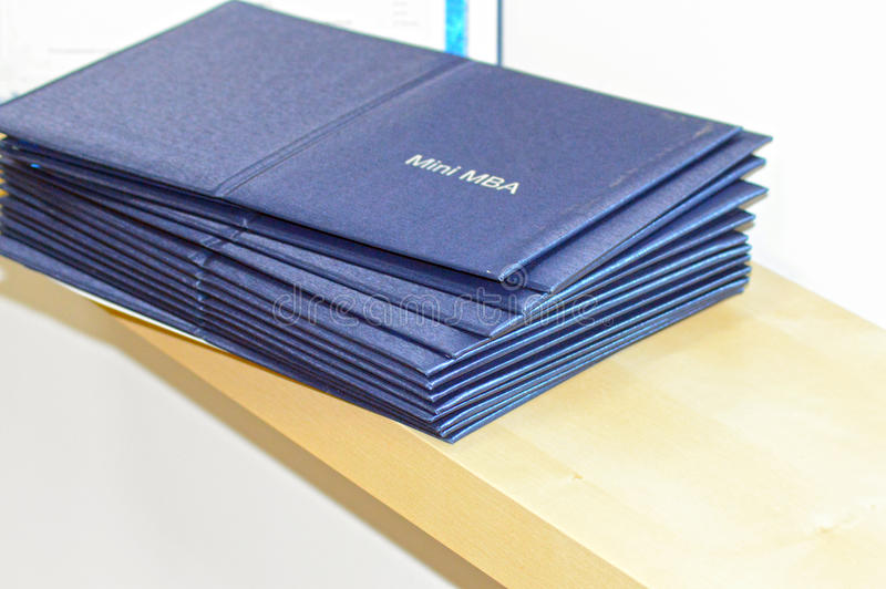 Mini MBA diplomas royalty free stock photo