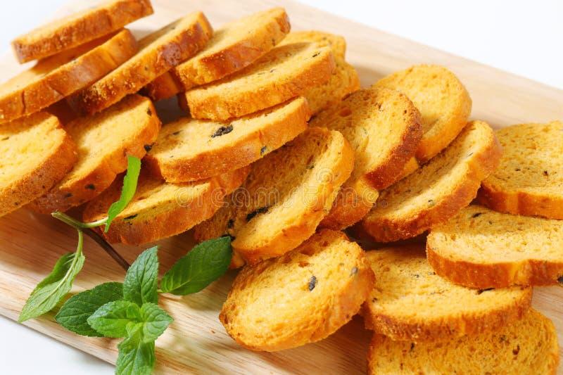 Mini Mediterranean Toasts fotos de stock