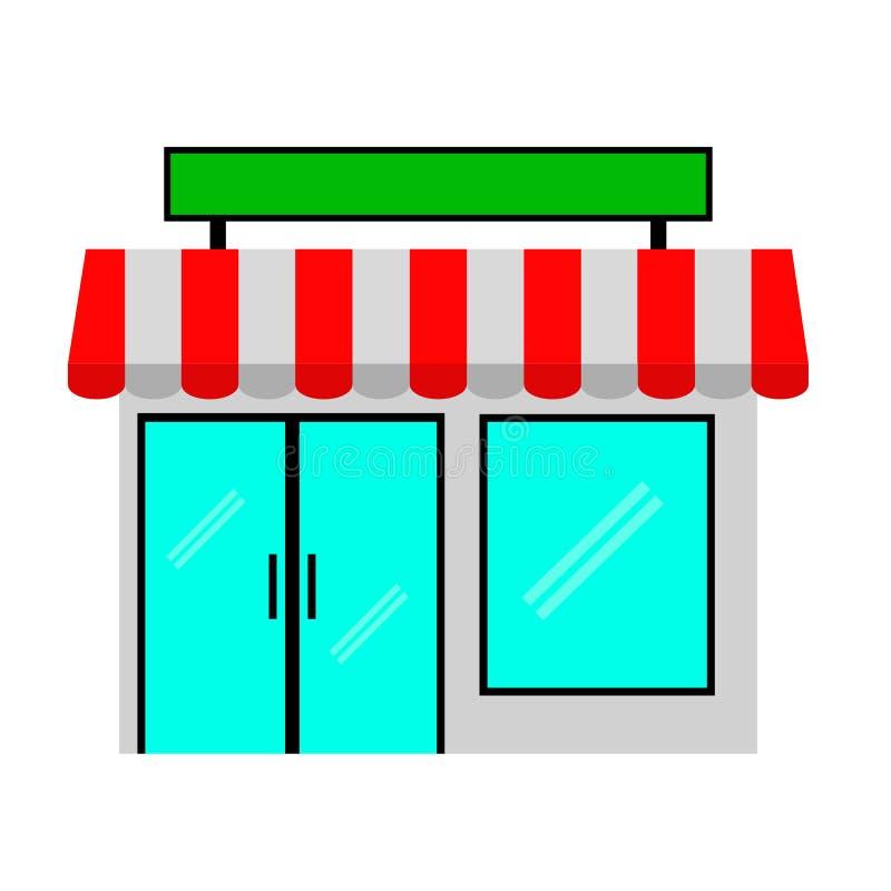 Mini mercado simple en el fondo blanco ilustración del vector