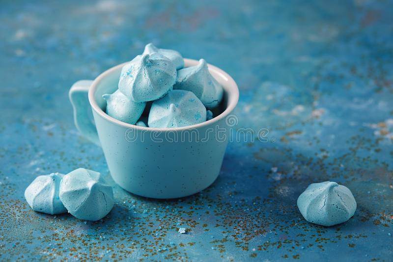 Mini Meringues bleu photos libres de droits