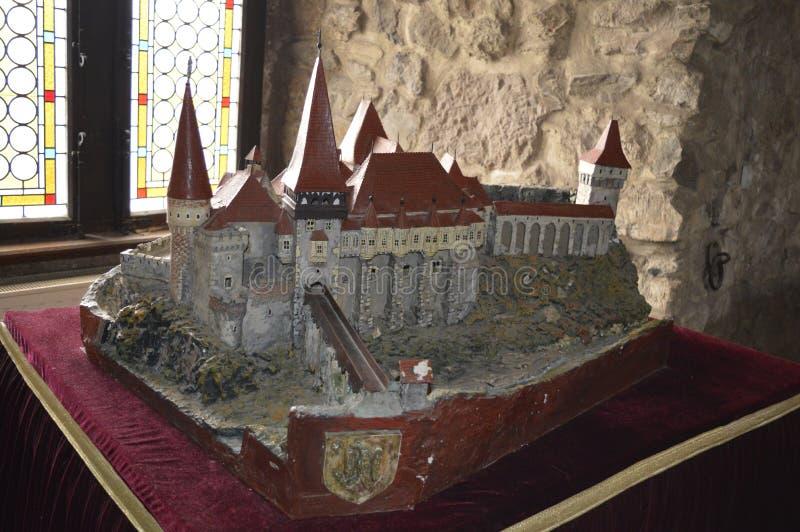 Mini model Corvin Castle Transylvania, Romania. royalty free stock image