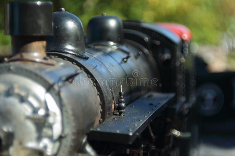 Mini- modell för drev för ångamotor royaltyfria foton