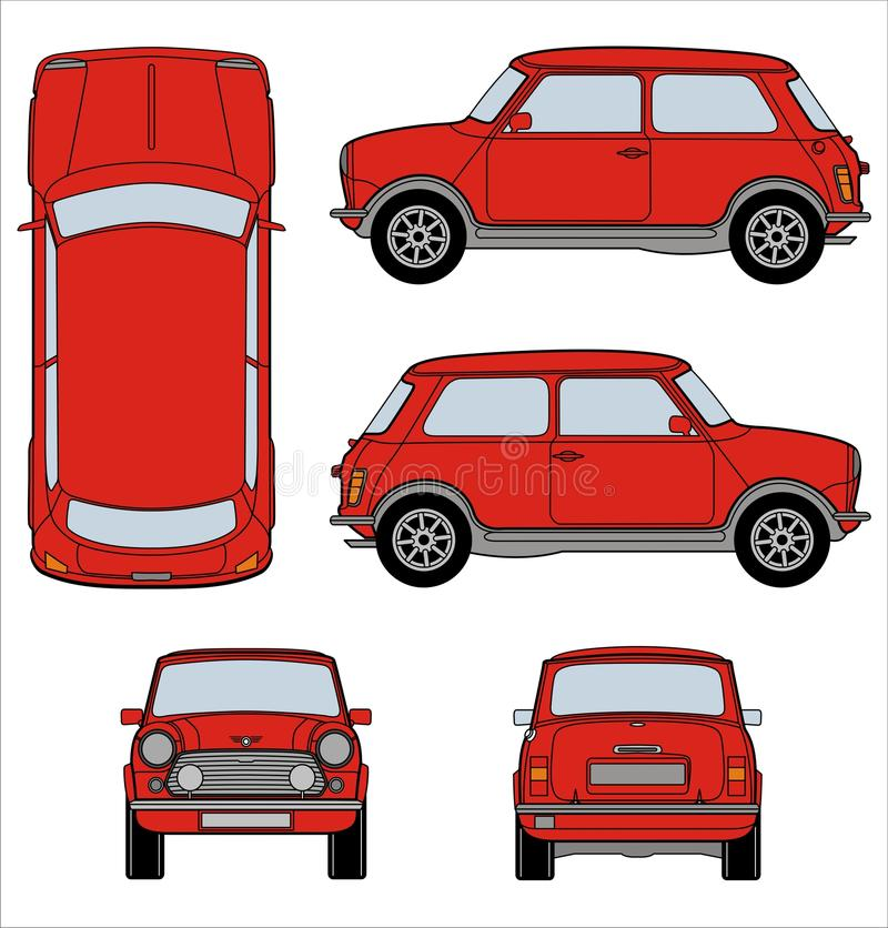 Mini Moris - Mini Cooper royaltyfri illustrationer