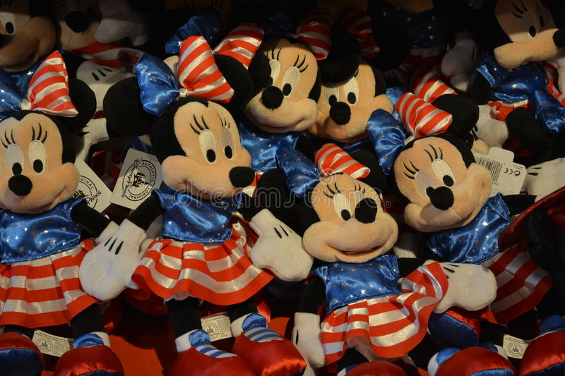 Mini Mouse Toys in Disney store stock photo