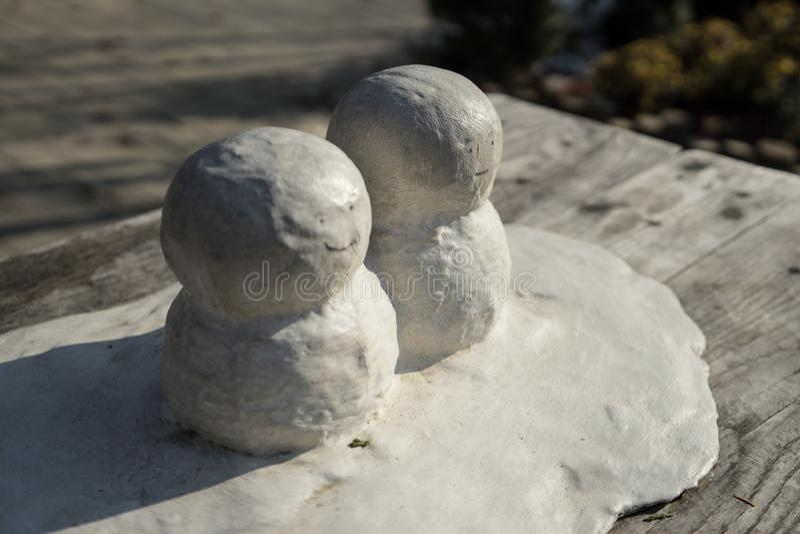A mini neve dois equipa imagem de stock royalty free