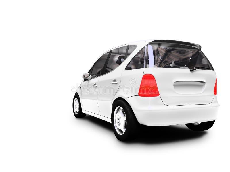 Mini opinião branca da parte traseira do carro ilustração stock