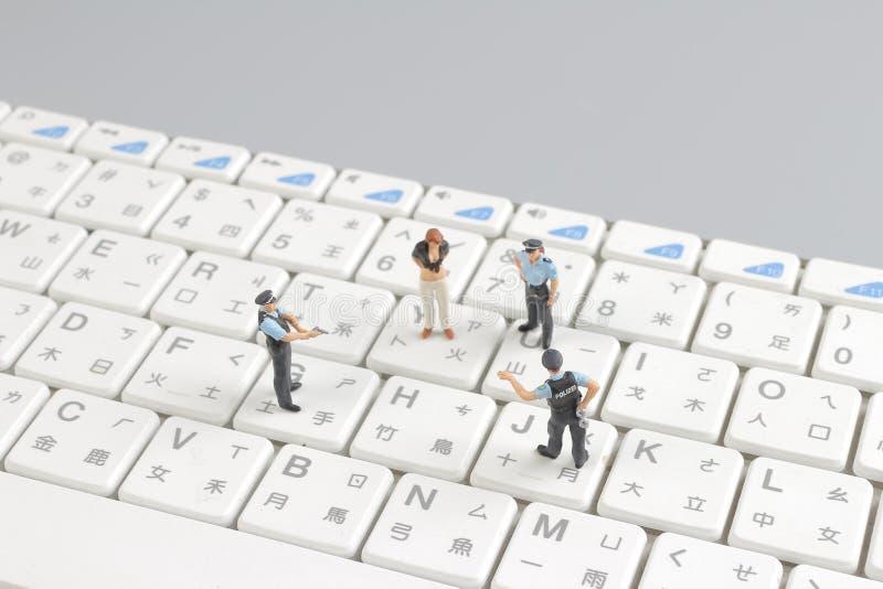mini pacnięcie oddziału chronienia klawiatura obrazy stock